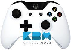 White Xbox One Controller - KwikBoy Modz #CustomController #ModdedController #WhiteController #CustomXboxOneController #XboxOne #XboxOneController