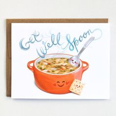 Get Well Card feel better card get well soon by MudsplashStudios Feel Better Cards, Feel Better Quotes, Get Well Prayers, Get Well Wishes, Get Well Gifts, Get Well Cards, Best Puns, Hand Drawn Cards, Pun Card