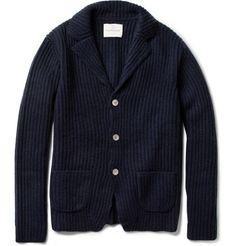 Hartford Ribbed Wool and Cashmere-Blend Cardigan | MR PORTER