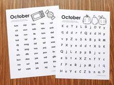 Free fluency printab