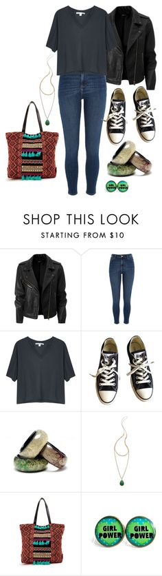 """""""Untitled #2628"""" by kitten89 ❤ liked on Polyvore featuring River Island, Acne Studios, Converse, Amrita Singh and Serefina"""