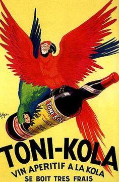 Toni-Kola vin apéritif à la kola, se boit très frais. by Robys (1920)