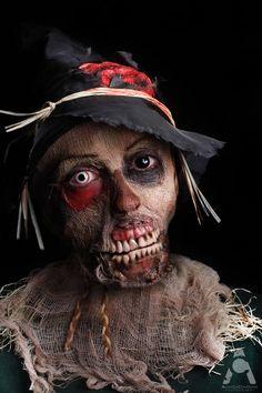 Zombie Scarecrow Halloween Makeup...creepy