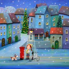 "Saatchi Art Artist Iwona Lifsches; Painting, ""Letter To Santa"" #art"