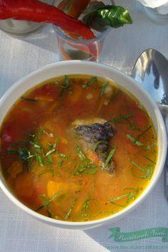 Ciorba de Peste cu Legume Fish Recipes, My Recipes, Soup Recipes, Dessert Recipes, Desserts, European Dishes, Romanian Food, Romanian Recipes, Arancini