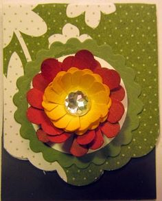 Crafty Maria's Stamping World: Magnetic Bookmark using Punches with a tutorial - LNS group Paper Bookmarks, Magnetic Bookmarks, Magnets, Pencil Eraser, Circle Punch, Rust Color, Craft Sale, Wizard Of Oz, Flower Making
