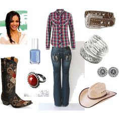 Country outfit - LOvE the red ring!