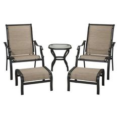 Loweu0027s Swing Frame | Patio Set: Target Home Dumont 5 Piece Sling Patio  Lounge