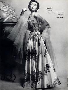 Nina Ricci, 1954    Photo by Guy Arsac  via http://tammy17tummy.tumblr.com/