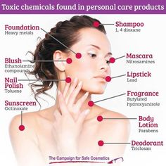 Did you know the average #American #woman uses about 12 personal care products every day? Join the Campaign for Safe Cosmetics to clean up the beauty aisle!  Learn more about these #toxic #chemicals here. #safecosmetics #cleanliving #humanhealth #makeup #beauty #cosmetics