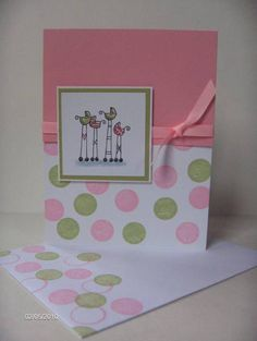 Baby Girl Shower Card- ideas for Alison's invitation