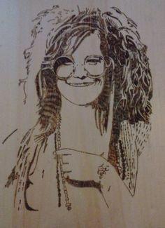 Janis Joplin Janis Joplin, Wood Crafts, Art, Kunst, Woodworking Crafts, Wood Creations, Art Education, Artworks