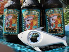 Great graphic label; good beer. For the adults at the kids shark party.