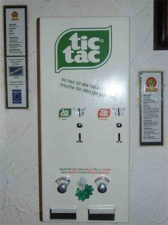 Tic Tac vending machine.