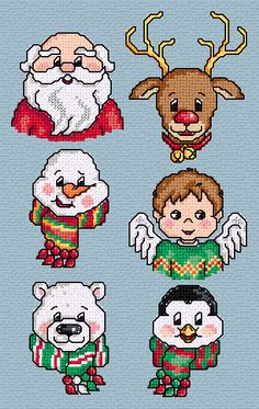 Maria Diaz Designs: MUG SHOTS (Cross-stitch chart) Embroidery Applique, Embroidery Patterns, Cross Stitch Designs, Cross Stitch Patterns, Santa Head, Cross Stitch Freebies, Cross Stitch Needles, Needlecrafts, Christmas Embroidery