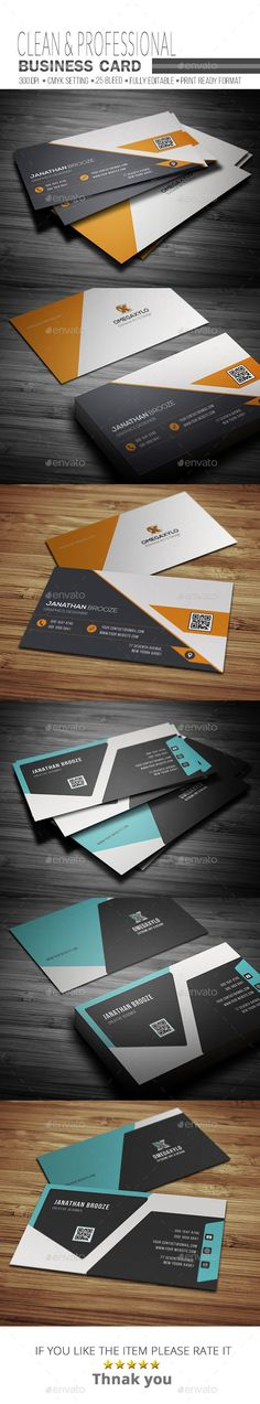 Business Card Design Template Bundle ( 2 In 1 ) - Corporate Business Cards Template PSD. Download here: https://graphicriver.net/item/business-card-bundle-2-in-1-/17719749?ref=yinkira