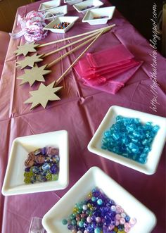 Maybe a craft table (not with fairy wands but something theme specific) for the older kids?