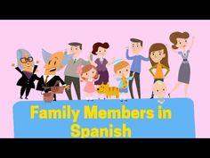 (1491) Members of the family in Spanish - YouTube Family Theme, Family Guy, Family In Spanish, Movie Talk, Elementary Spanish, Spanish Vocabulary, How To Speak Spanish, Learning Spanish, Language