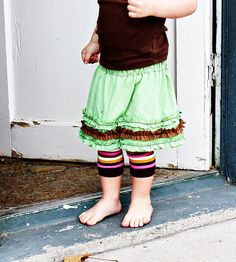 Another cute idea for a little girls skirt made out of a tshirt.  I have a couple of granddaughters that love skirts.