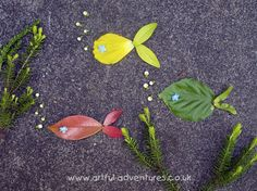 leaf collage from artful adventures blog. Set it up and photograph!