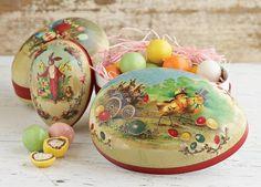 Vintage inspired German Easter eggs boxes