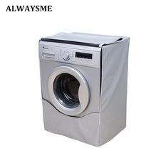 Buy ALWAYSME Washing Machine Cover Waterproof Dustproof Sunscreen Cover For FrontLoad Washer/Dryer Saver Laundry Home Silver Coating Cheap Kitchen Islands, Kitchen Island Trolley, Washing Machine Cover, Washer And Dryer, Sunscreen, Strand, Home Furniture, Laundry, Washing Machine