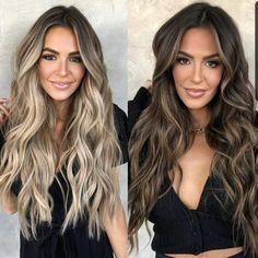 Balyage Long Hair, Cabelo Ombre Hair, Brown Hair Balayage, Brown Blonde Hair, Balayage Brunette, Hair Color Balayage, Brunette Hair, Hair Highlights, Color Highlights