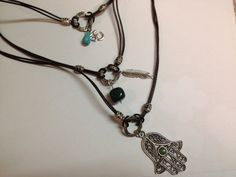 Layered leather necklace by MyFavoriteAccessory on Etsy, $26.00