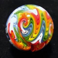 Art-Glass Marble by Andrew Groner of 'AJGglass' on Etsy ♥•♥•♥