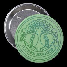 Tree hugger, hippy badge pins