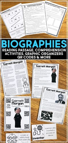 These biography reading passages and comprehension activities include resources for students to learn about famous Americans. The biographies of famous people are specifically written for kids to learn the life story of influential people, including presidents, leaders, inventors, women, civil rights activists, and more. #biographies #biographpassage #readingpassage #biographyreport 2nd Grade Reading Passages, Reading Comprehension Worksheets, 5th Grade Reading, Teaching Second Grade, 4th Grade Writing, Third Grade, Fourth Grade, 5th Grade Social Studies, Teaching Social Studies