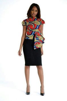 African Print High Low Top by on Etsy Ankara African fashion African Inspired Fashion, African Print Fashion, Africa Fashion, Fashion Prints, Fashion Design, Ankara Fashion, Fashion Styles, Fashion Ideas, Fashion Outfits
