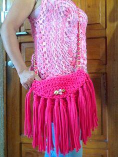 Bolso y Blusa a Crochet