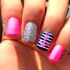 23 Nail Designs That Say Summers Here #nails #designs #ideas #2017 #summer #pretty #beach #simple