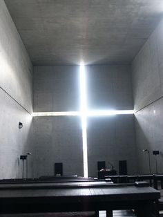 Interior of the Church of the Light, designed by Tadao Ando, in Ibaraki, Osaka Prefecture. I, Attila Bujdosó took this picture on 18/03/2005 in Osaka, Japan.