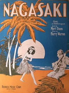 124 best jazz sheet music images on pinterest sheet music vintage nagasaki vintage sheet music with hula dancer fandeluxe Image collections