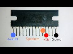 how to build a simple 12v speaker circuit without using ic 3 rh pinterest com Types Integrated Circuit How Integrated Circuits Work