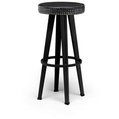 Diesel Living  Bar Studded Low Stool ($635) ❤ liked on Polyvore featuring home, furniture, stools, black, round furniture, black furniture, diesel furniture, round stool and low stool