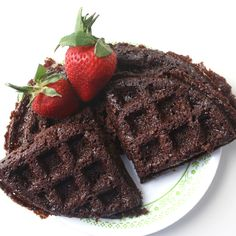 These Vegan Brownie Waffles made with our organic Ooey Gooey Chocolate Brownies Mix are sweet, simple and delicious!