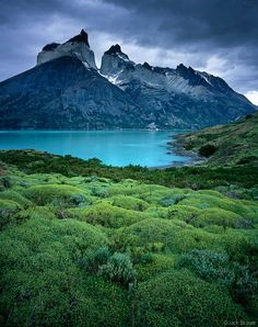 Cuernos del Paine rise more than 8,000 feet straight above Lago Nordenskjold in Torres del Paine National Park, Chile: by Jack Brauer