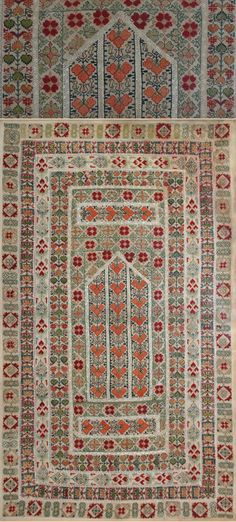 "Antique Turkish Textiles, Silk Embroidery Panel Ottoman Dynasty 1453-1922A.D Circa 1840 .   Size 50"" x 29"" Size 127 x 74cm"