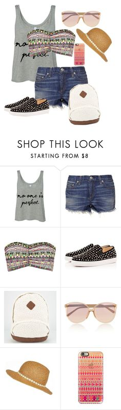 """Summer Outfits for teens"" by leilaaudrinae ❤ liked on Polyvore featuring rag & bone, Boohoo, Christian Louboutin, Linda Farrow, River Island and Casetify"