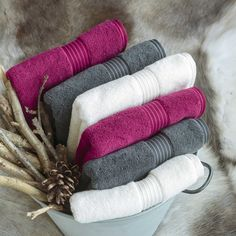 Christy Supreme Hygro 650gsm Cotton Towels - Graphite - Raspberry - White