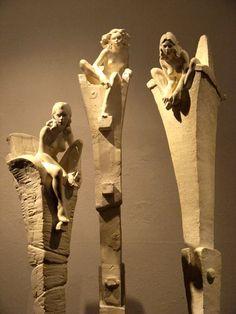 Sculpture Platre - Les 3 soeurs - Fred Fichet - Sculpture