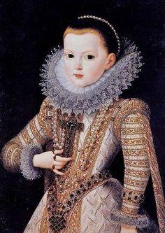 Anne of Austria, Queen of France as a child by Juan Pantoja de la Cruz (1553–1608)