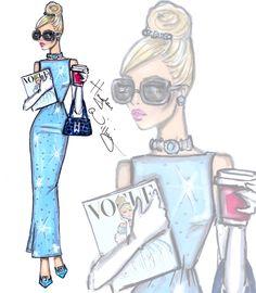 Hayden Williams Fashion Illustrations   Disney Diva Fashionistas by Hayden Williams: Cinderella