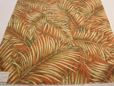 Palm Fabric Kravet Tropical Print Fabric Samples Exclusive Cotton Butler/D USA Teflon Calender + FREE SAMPLES!!!