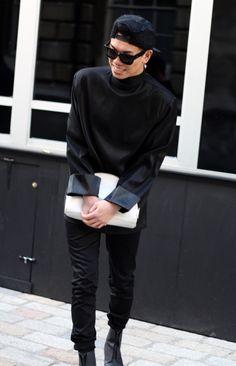 Black on black on black. London Fashion Week '14... | @madcult