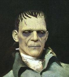 This is a more current depiction of the creature and in my opinion no very accurate because they are focusing too much on an image of a monster that they forget that he is actually made of human parts. Mary Shelley Frankenstein, Frankenstein's Monster, My Opinions, Einstein, Psychology, Death, Creatures, Forget, Collage
