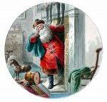 Seasonal - winter - Christmas - santa-by-fireplace